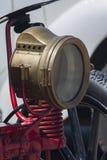 Vieille lampe à pétrole de voiture, lampe de kérosène Image libre de droits