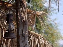 Vieille lampe à pétrole rouillée Images libres de droits