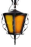 Vieille lampe au-dessus de blanc photo stock