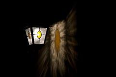 Vieille lampe avec la réflexion de la lumière Photo stock