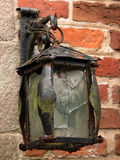 Vieille lampe de chariot images stock