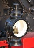Vieille lampe sur une locomotive à vapeur Image libre de droits