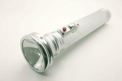 Vieille lampe-torche en métal, torche argentée Photo libre de droits