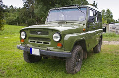 Vieille Land Rover russe Photographie stock