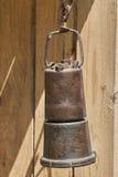 Vieille lanterne de cuivre Photo stock
