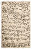Vieille lettre avec le texte manuscrit Fond grunge de texture images stock