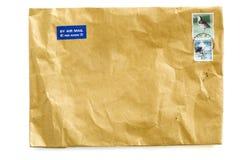 Vieille lettre brune Photo stock