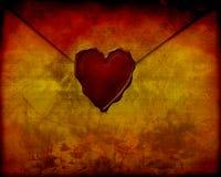 Vieille lettre d'amour de papier Photos libres de droits