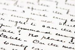 Vieille lettre d'encre photo libre de droits