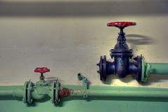 Vieille ligne de pipe Photo libre de droits