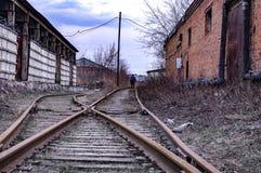 Vieille ligne ferroviaire Photo libre de droits