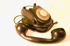 Vieille ligne terrestre - téléphone d'oldschool Image libre de droits
