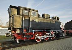 Vieille locomotive à Brest Belarus Images libres de droits