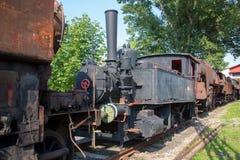 Vieille locomotive à vapeur image libre de droits