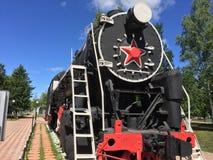 Vieille locomotive à vapeur Image stock