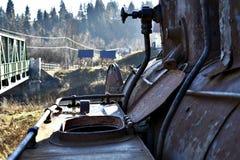 Vieille locomotive à vapeur rouillée Photos stock