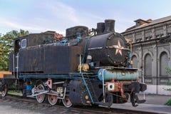 Vieille locomotive à vapeur rouillée Images libres de droits