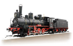 Vieille locomotive à vapeur russe Image stock
