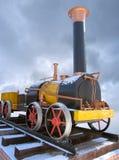 Vieille locomotive à vapeur russe images libres de droits