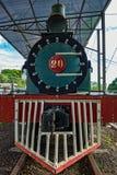 Vieille locomotive à vapeur vue de l'avant photo libre de droits
