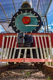 Vieille locomotive à vapeur vue de l'avant photo stock