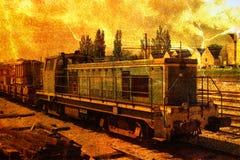 Vieille locomotive Photo stock