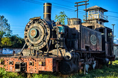 Vieille locomotive dans Savannah Station Images stock