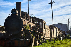 Vieille locomotive dans Savannah Station Image stock