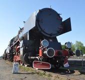 Vieille locomotive de train de vapeur Photos libres de droits