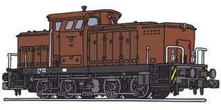 Vieille locomotive diesel Photos libres de droits