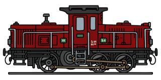 Vieille locomotive diesel illustration libre de droits