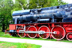 Vieille locomotive, faite dans Resita Photo stock