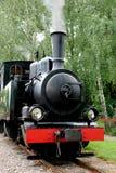 Vieille locomotive noire Image stock