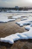 Vieille loge fidèle, Yellowstone Photographie stock libre de droits
