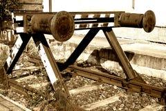 Vieille mémoire tampon ferroviaire Image stock