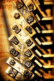 Vieille machine à écrire Photo libre de droits
