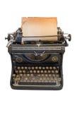 Vieille machine à écrire avec une feuille de papier Image stock