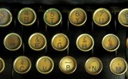 Vieille machine à écrire, clés Photos libres de droits