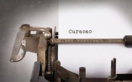 Vieille machine à écrire - Curaçao photo stock