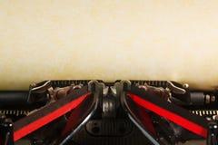 Vieille machine à écrire de cru Image libre de droits