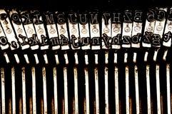 Vieille machine à écrire de matrice images stock
