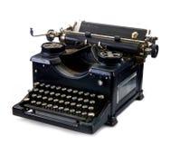 Vieille machine à écrire noire de cru Image stock