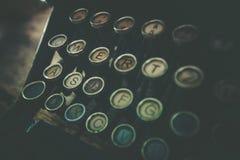 Vieille machine à écrire rouillée photographie stock libre de droits