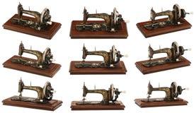 Vieille machine à coudre classique (différents angles) Images stock