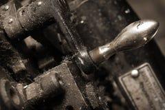 Vieille machine poussiéreuse de fonte Image libre de droits