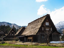 Vieille maison au shirakawago Photos libres de droits