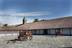 Vieille maison avec l'architecture chilienne traditionnelle, dans l'Itata Va Photos stock