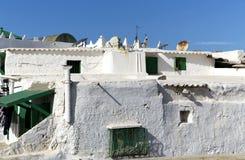 Vieille maison Branca (la Maison Blanche) de village de pêche de Berber Image libre de droits