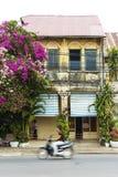 Maison coloniale française dans le kampot Cambodge Images libres de droits