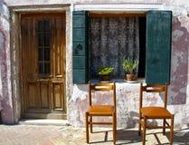 Vieille maison dans Burano Photos stock